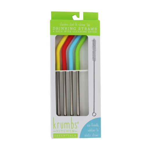 4ct Stainless Steel Straws