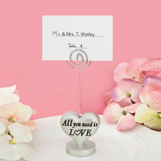 All You Need is Love Heart Design Placecard or Photo Holder
