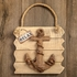 Anchor Wall Plaque Relax Distressed Wood Edge