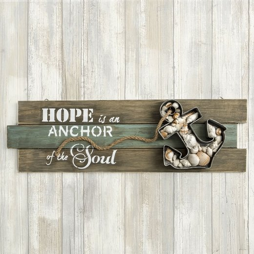 Anchor Wall Sign 'Hope is an Anchor of the Soul'