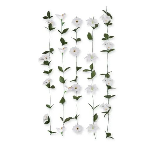 Artificial White Flowers Garland