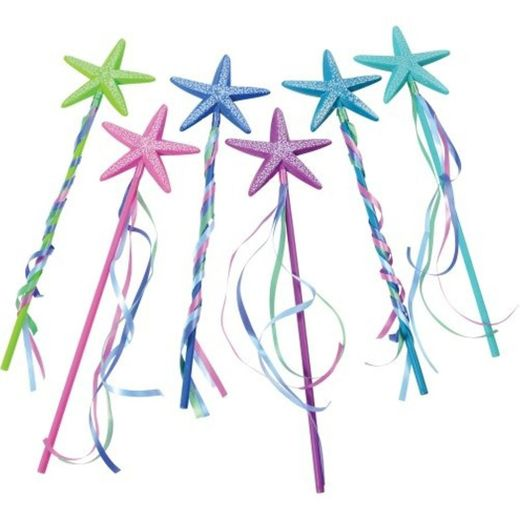 Assorted Color Starfish Wands