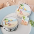 Beach Design Silver Metal Compact Mirror with Epoxy Top