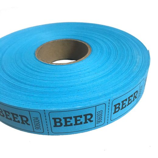 Blue Beer Ticket Roll