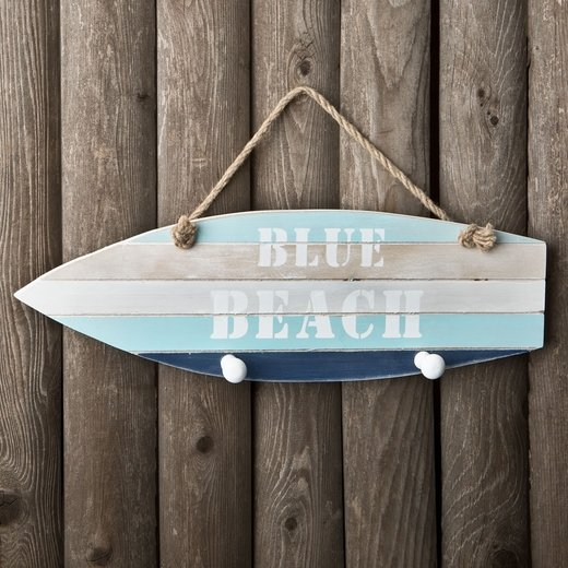 Boat Shaped Wall Sign 'Relax On The Beach'