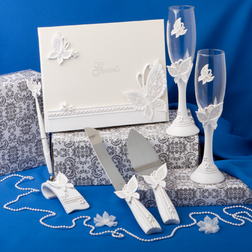 Butterfly Themed Wedding Day Accessory Set