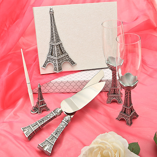 Eiffel Tower Design Wedding Day Accessories