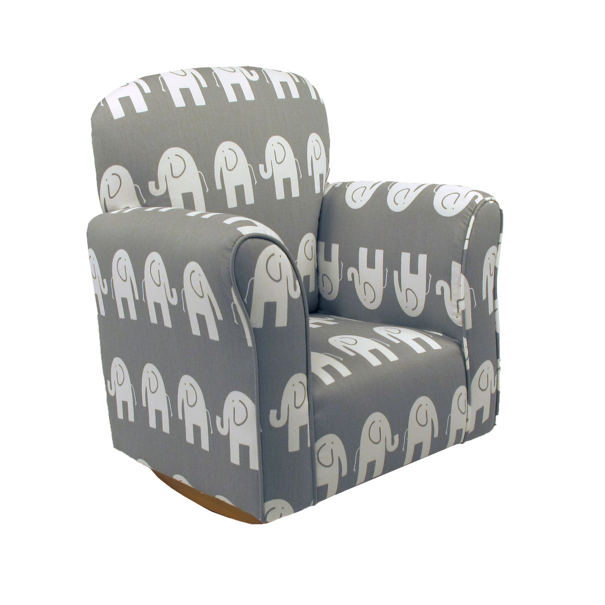 Outstanding Details About Elephant Cotton Print Toddler Rocker Cotton Rocking Chair Gmtry Best Dining Table And Chair Ideas Images Gmtryco