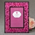 Fabulous Fuchsia 4 x 6 Mosaic Frame with Glass with Black Borders