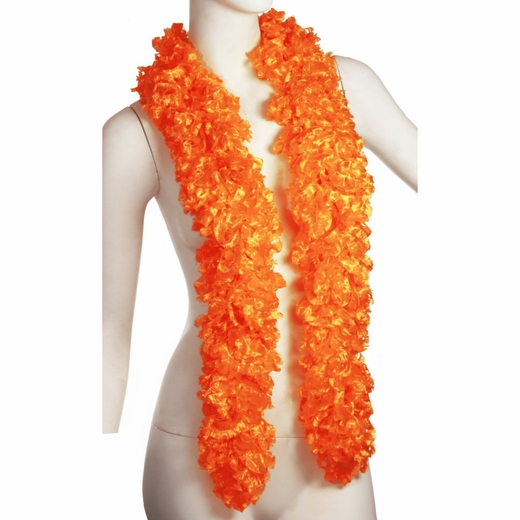 Faux Orange Featherless Boa (6', 185 grams)