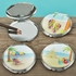 Fun Beach Scene Compact Mirrors