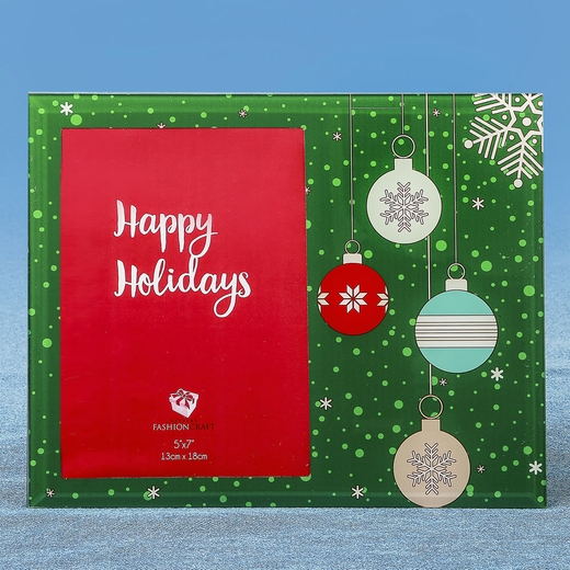 Glass Holiday Ornament 5 x 7 Frame