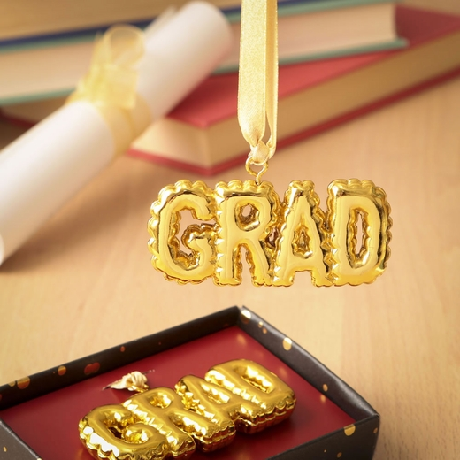 Gold Grad Hanging Ornament