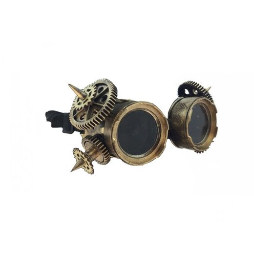 Gold Spiked Steam Punk Goggles