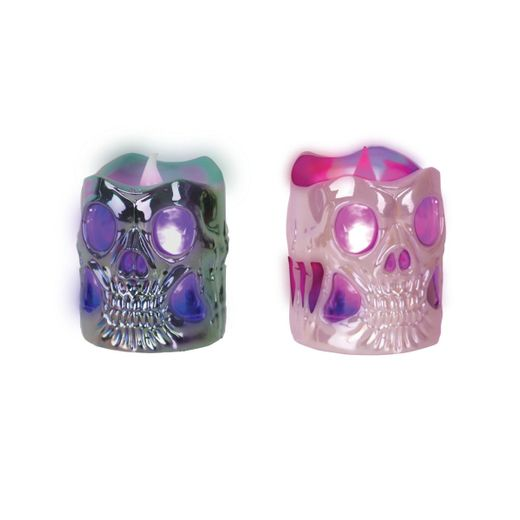 Halloween Skull Head Light Up Tea Light