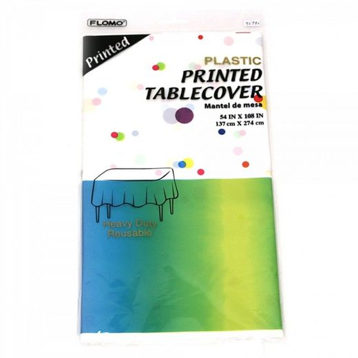 Hombre Rainbow Dots Plastic Tablecover - Rectangle