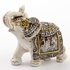 Ivory with Sepia Accents Elephants Small Size