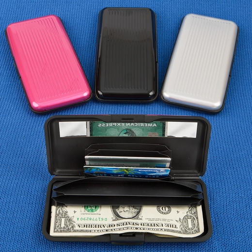Large Aluminum Wallets in Solid Colors