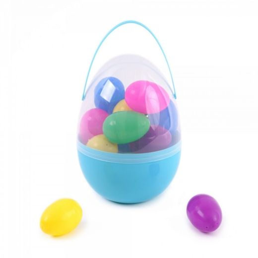 Large Easter Eggs In Egg Shaped Container