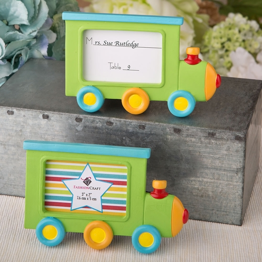 Little Locomotive Engine Photo Frame / Placecard Holder
