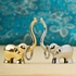 Lucky Elephant Ring Holder in Silver and Gold