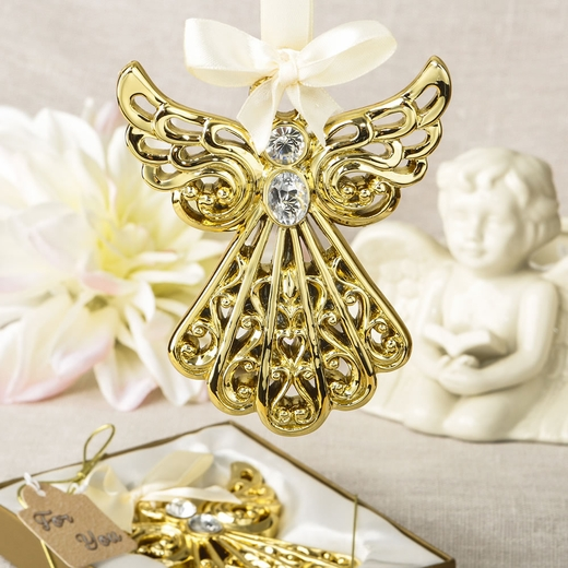 Magnificent Gold Angel Ornament