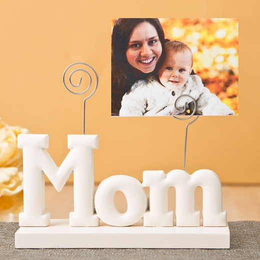 Magnificent Rose White Mom Photo Holder