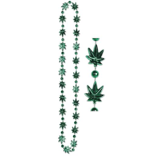 Marijuana Weed Shaped Beads