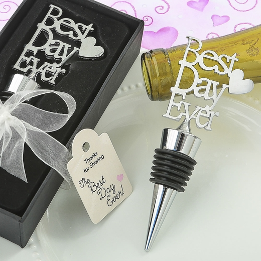 Metal Best Day Ever Bottle Stopper