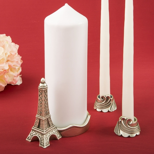 Paris / Eiffel Tower Themed Unity Candle Set