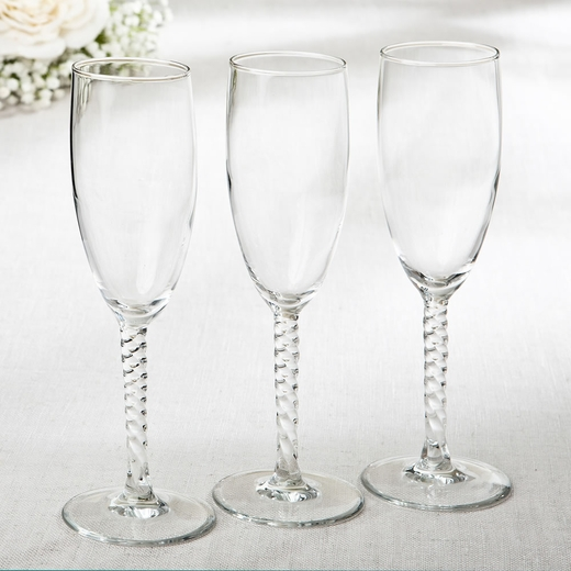 Perfectly Plain Collection Elegant Champagne Flutes