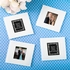 Perfectly Plain Collection Glass Photo Coaster
