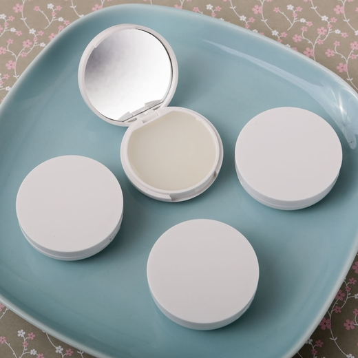 Perfectly Plain Collection Vanilla Scented Lip Balm with Real Glass Mirror