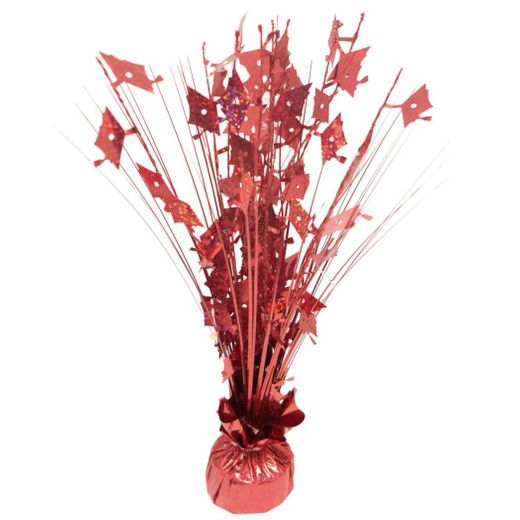 Red Graduation Balloon Centerpiece