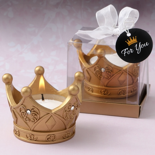 Royal Gold Crown Tea Light Candle