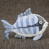 Sea Fish Figurine Decorative Standing Object with Patchwork Design