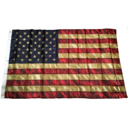 "Tea Stained 3"" by 5"" Old Glory USA Flag"
