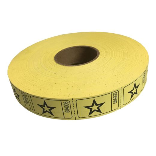Yellow Star Ticket Roll