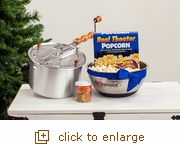 Classic Everything Popcorn Gift Set Original Silver Whirley Pop