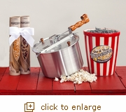 Hot & Fresh Popcorn Gift Set Original Silver Whirley Pop