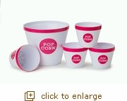Pretty in Pink Popcorn Bucket Set