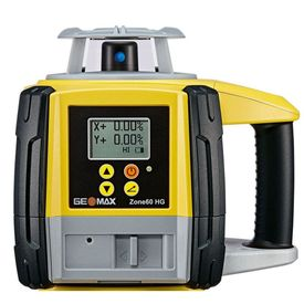 GeoMax Zone60 HG Dual Grade Slope Rotary Laser #6010661 with ZRD105 Pro Digital Receiver