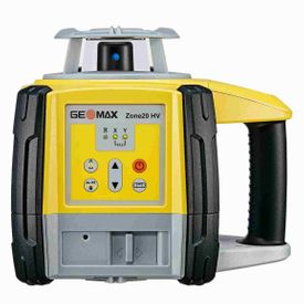 Geomax Zone 20HV  Rotary Laser Level with vertical leveling. ZRB90 Receiver, alkaline battery tray and Manual Slope Matching .