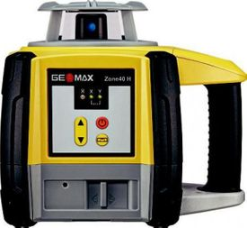 Geomax Zone 40H Rotary Laser Level With ZRD105 Detector, alkaline battery tray, Slope Matching
