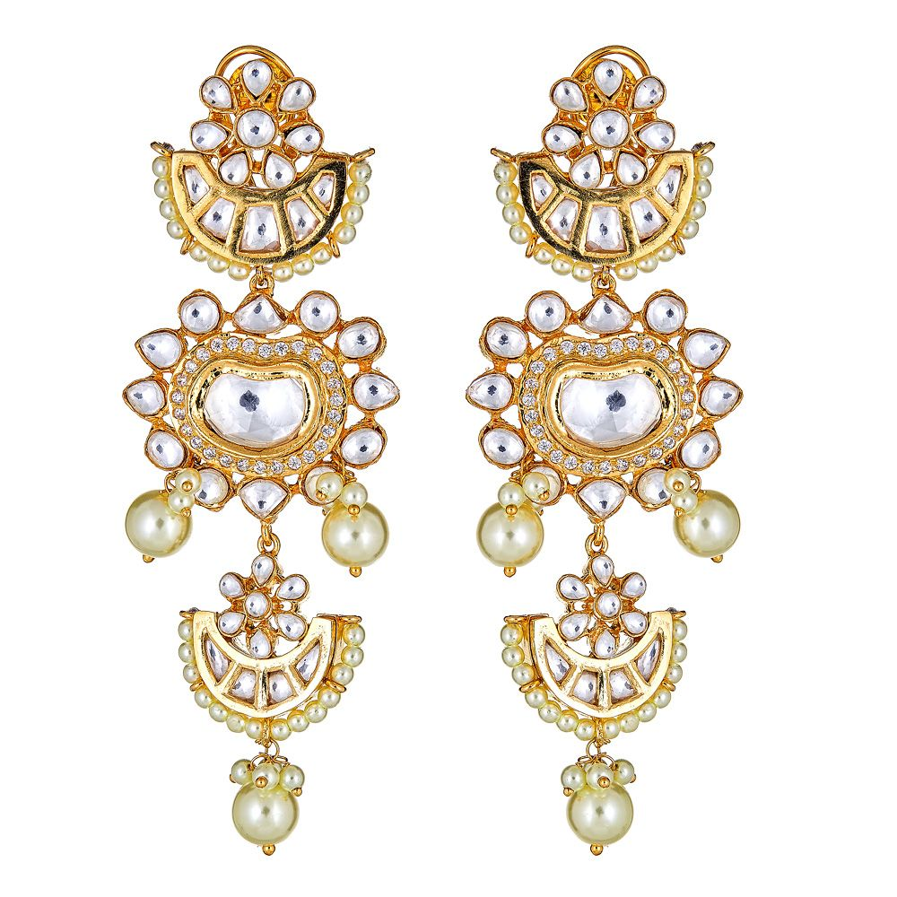 Abirami Earrings in Gold