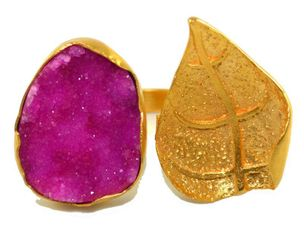 Ahaana Ring in Pink Druzy