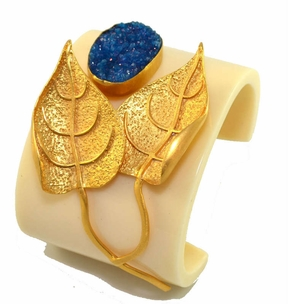Amalia Cuff in Blue Druzy