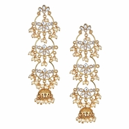 Amina Floral Drop Earrings