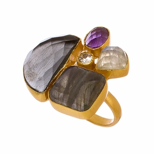 Aubrey Ring in Multi Stones