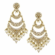Jivika Earrings in Pearl